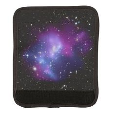 Purple Galaxy Cluster Luggage Handle Wrap