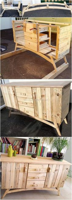 This DIY pallets wooden rustic entryway table idea seems best to locate in your kitchen area as well as in your lounge to meet all storage needs and requirements with this rustic looking table plan. #pallets #woodpallet #palletfurniture #palletproject #palletideas #recycle #recycledpallet #reclaimed #repurposed #reused #restore #upcycle #diy #palletart #pallet #recycling #upcycling #refurnish #recycled #woodwork #woodworking