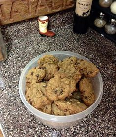 Cowboy Cookies 1 Cup butter, 1 Cup sugar 1 Cup packed brown sugar Cream together. Sweet Recipes, Dog Food Recipes, Dessert Recipes, Cooking Recipes, Family Recipes, Cookie Desserts, Just Desserts, Churros, Yummy Things To Bake