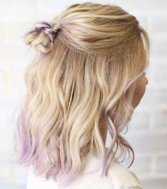 Medium Hairstyle With Half Up Knot