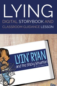 Lying activity: In this elementary school counseling classroom guidance lesson, students discuss reasons why people lie, consequences of lying, others' feelings, & positive alternatives. Begin the lesson by reading the included digital readaloud. Then, use yarn to illustrate a sticky web of lies. Students will work together to consider 16 lying scenarios. This activity can be used for classroom guidance lessons, small group counseling, or individual counseling to address lying behavior.