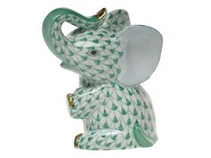 Baby Elephant in Green by Herend, $225.00