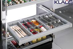Tiroir cuisine - cuisine sur mesure - cuisine - rangement pratique - KLAUS