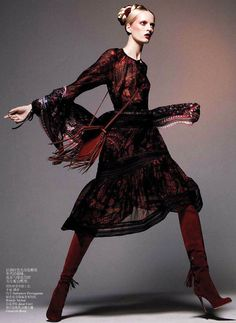 neo folk: daria strokous by daniel jackson for vogue china october 2012