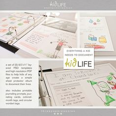 """kidLife is a system of 8.5"""" x 11"""" templates and embellishments that makes it easy for kid's of any age to begin documenting their lives using their own words & pictures."""