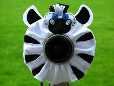 custom large ZEBRA Lens Pet for your camera. $22.00, via Etsy.