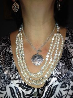 Silver and Pearls on Karen!