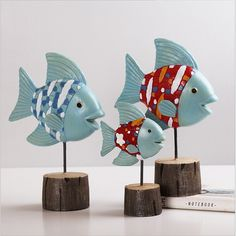 / set Fish resin wedding decorative crafts and decorations Home Furnishing small desktop Christmas ornaments (China) para el hogar Wire Crafts, Decor Crafts, Diy And Crafts, Arts And Crafts, Fish Sculpture, Plaster Sculpture, Transfer Images To Wood, Box Creative, Clay Fish