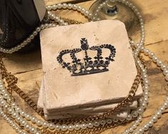 Royalty - Handmade Natural Stone Coasters - Home Decor - Housewarming - Yankee Swap - Christmas Gift by StampWithTiff on Etsy