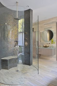 Superb This glamorous contemporary bathroom was completed by Key Residential. #luxeDallas The post This glamorous contemporary bathroom was completed by Key Residential. #luxeDall… appeared ..