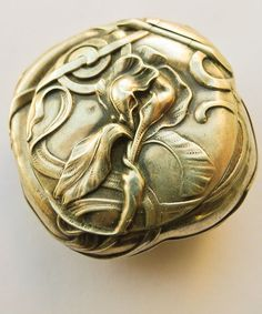 Magnificent Antique Art Nouveau Pill Box - Circa 1900