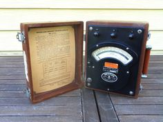 Weston High Frequency Voltmeter  Model 341 by salvageandco on Etsy, $65.00
