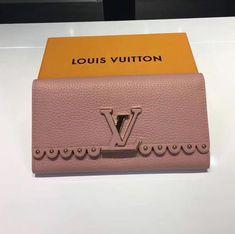 Lousi Vitton Capucines Wallet Inspired By Couture Lace Pink 2017 ] : Real Bag Sale Louis Vuitton 2017, Louis Vuitton Handbags, Designer Bags For Less, Handbags For Men, Bag Sale, Couture, Wallet, Authenticity, Lace