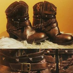 Southwestern ankle biker booties brand new Brand new southwest style studded ankle biker booties zip up Shoes Ankle Boots & Booties