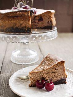 chocolate bourbon cherry cheesecake by spicyicecream, via Flickr