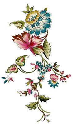 Flowers vintage decoupage manualidades Ideas for 2020 Bordado Jacobean, Jacobean Embroidery, Embroidery Patterns, Motif Floral, Floral Prints, Animal Print T Shirts, Shirt Print, Illustration Blume, Flowers Gif