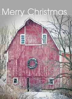 """Untitled"" by Iowa Farm Bureau on Flickr - Winter settled into northern Iowa last week, and a barn in Winnebago County is decorated perfectly for the holiday season.  This photograph was taken on December 12, 2009."