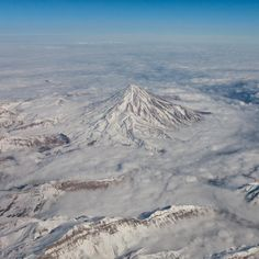 Iran's tallest peak Mount Damavand, where Ferdowsi mentions abundantly in the shahnameh.
