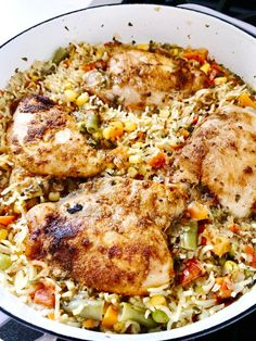 Rice Recipes, Fall Recipes, Healthy Recipes, Healthy Foods, Easy Weeknight Meals, Easy Meals, One Pan Dinner, Skinless Chicken Thighs, Food Processor Recipes