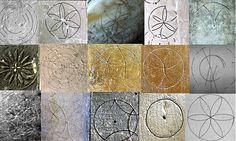mediaeval compass drawn symbols uk - Google Search