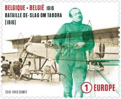 Stamp: Hydroplane and the Battle of Tabora (1916) (Belgium) (The Great War Centenary) Mi:BE 4643,Yt:BE 4568,Bel:BE 4598
