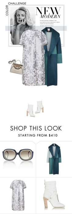 """Rock This Look: Blue and Silver"" by mariotsala22 ❤ liked on Polyvore featuring Marni, Roksanda, Rochas and Fendi"