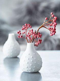 Chic Mini White Vase #nordichouse #vase #giftsforher