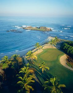 Signature Hole at the Four Season's Resort Golf Course.  Luxury villa vacation rentals are available through Casa Bay Villas