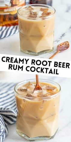 Love a delicious 3 ingredient drink recipe? This Creamy Root Beer Rum Cocktail tastes like an adult version of a Root Beer Float.