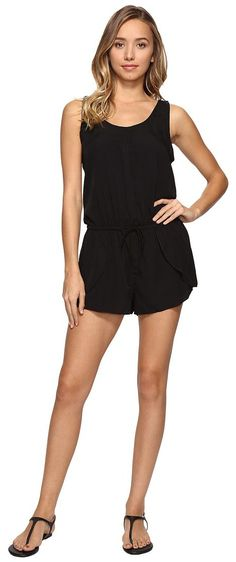 Rip Curl Classic Surf Romper (Black) Women's Jumpsuit & Rompers One Piece - Rip Curl, Classic Surf Romper, GDRAI8-BLK, Apparel One Piece Jumpsuit & Rompers, Jumpsuit & Rompers, One Piece, Apparel, Clothes Clothing, Gift - Outfit Ideas And Street Style 2017