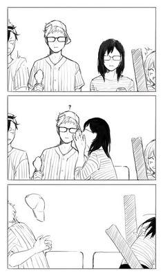 Haikyuu Tsukishima, Haikyuu Funny, Haikyuu Manga, Haikyuu Fanart, Kuroo, Anime Fr, Otaku Anime, Tsukkiyama, Kurotsuki