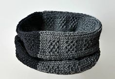 Seamless Knit Infinity Scarf Pattern Knit Cowl Scarf by isWoolish