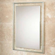 Decorative Bathroom Mirrors, Rectangular Bathroom Mirror, Beveled Edge Mirror, Clear Glass, Glass Art, Mirror Border, Illuminated Mirrors, Mirror With Lights, Big Mirrors