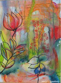 Acrylverf op Canvasdoek 30 x 40 cm   Zoals in mijn vorige bericht beloofd, hier het tweede schilderij. Ook deze is op canvas geschilderd e...