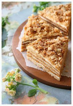 Sour Cream and Honey Cake.