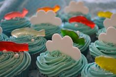 Water themed cupcakes