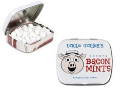 Each one of these mints tastes like a delicious slice of crispy bacon with just a hint of mint flavor to give it that extra punch!
