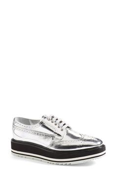 Prada Winged Oxford (Women) available at #Nordstrom