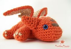"Baby Dragon (8inches long) - Free Amigurumi Pattern - PDF Format - Click to ""baby_dragon_amigurumi_pdf_by_rainbowreverie-d7flu4k.pdf"" here: http://www.ravelry.com/patterns/library/baby-dragon-amigurumi-plush-toy"