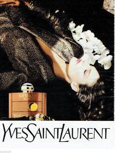 PUBLICITE ADVERTISING 115 1988 YVES SAINT LAURENT parfum OPIUM