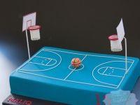 Basketball court 13th birthday cake