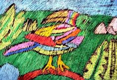 rainforest animal batik art - deep space sparkle