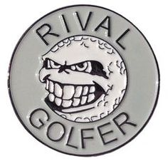 'Rebellious' Golf Ball Marker - Grey #golf #greyisthenewblack