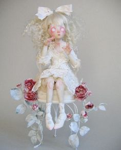 Ooak doll by Julien Martinez Ooak Dolls, Blythe Dolls, Native American Dolls, Gothic Dolls, Doll Repaint, Creepy Dolls, Doll Maker, Sculpture, Collector Dolls