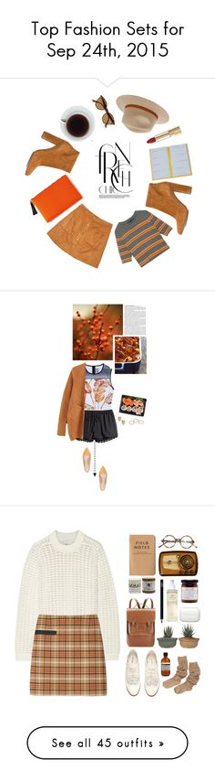 """""""Top Fashion Sets for Sep 24th, 2015"""" by polyvore ❤ liked on Polyvore featuring Smythson, Retrò, Dolce&Gabbana, Gianvito Rossi, Ray-Ban, Billabong, Fall, orange, brown and fall2015"""
