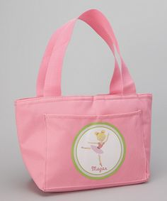 Love this Pink Blonde Ballerina Personalized Thermal Lunch Tote by Preppy Mama on #zulily! #zulilyfinds