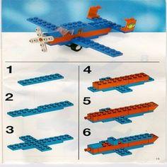 lego bouwtekeningen vliegtuig - Google zoeken
