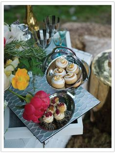 Gourmet bites.  Luxe summertime picnic.  Event design, style and coordination by Alchemy Fine Events