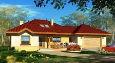 modele de case joase Bungalow, Home Fashion, Case, Architecture Design, House Plans, Sweet Home, Farmhouse, Mansions, Interior Design