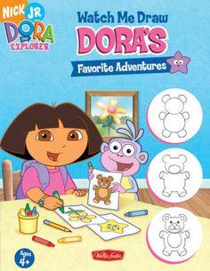 Presents step-by-step instructions on how to draw the eleven subjects of each of Dora's favorite adventures including a teddy bear, a guitar, and a dragon.
